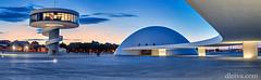 Crepusculo en el Centro Niemeyer de Avilés (dleiva) Tags: plaza city sunset panorama españa tower niemeyer architecture dawn spain arquitectura torre centro ciudad asturias panoramic panoramica aviles crepusculo domingo avilés urbanlandscape sunraise leiva dleiva
