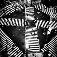 crossing (s_inagaki) Tags: street blackandwhite bw monochrome japan tokyo crossing bnw