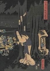 Kitsune no Yomeiri by Utagawa Yoshitora 1860 (Blue Ruin 1) Tags: japan japanese ghost foxes kitsune 1860 woodblockprint meijiperiod yuurei foxfires kitsunebi foxeswedding foxspirits kitsunenoyomeiri utagawayoshitora