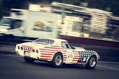 Chevrolet Corvette C3 1972 (Tom BRETON) Tags: auto paris chevrolet car race canon vintage tour racing usm oldcar vignettage vignetting corvette 70200 motorsport dpart ancienne lightroom c3 2016 f4l peterauto eos600d tourauto2016
