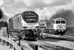 Old & New At Wembley LMD (R~P~M) Tags: uk greatbritain england london train diesel unitedkingdom shed railway depot locomotive 56 wembley 68 lmd chilternrailways dbarriva