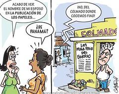 los papeles (Caricaturascristian) Tags: los offshore bancos panam dinero lista colmado papeles impuestos lavado cuentas evasin pulicados