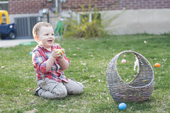 One Precious Egg (D. Garding) Tags: boy cute colors smile grass yard easter happy warm basket sunday egg lawn sunny son glad syndrome prize angelman