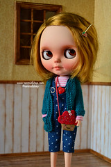 Oli (ronmielshop) Tags: blue doll handmade coat knit clothes jersey blythe nl cloth nicky cardigan licca diorama emeral liccabody ronmiel nickylad ronmielshop