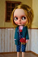 Oli (ronmielshop) Tags: blue doll handmade coat knit clothes jersey blythe nl cloth nicky cardigan licca diorama emeral liccabody ronmiel nickylad ronmielshop