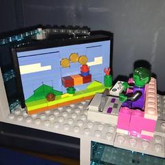 Beast boy playing Super Mario Bros. #lego #supermariobros (jessesbrickgalaxy) Tags: lego supermariobros