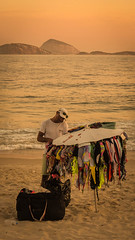 Market days (Fran Caparros) Tags: sunset sea brazil orange man beach rio brasil america de atardecer mar janeiro south playa arena copacabana naranja hombre ipanema sudamerica