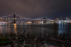 Manhattan Bridge (RyanKirschnerImages) Tags: nyc newyorkcity longexposure bridge ny newyork manhattanbridge nght