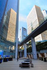 Reflection (Apricot Cafe) Tags: morning japan buildings walking tokyo sunny bluesky jp daytime monorail minatoku shiodome hamamatsucho citiscape tkyto sigma1224mmf4556iidghsm img632790