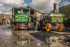 Green giants (Blaydon52C) Tags: road reflection green heritage vintage reflections wagon flickr shine yorkshire fair historic steam beamish company vehicles lorry vehicle preserved sentinel steamfair 2016 denby