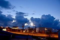 stormy night (Jualbo) Tags: night clouds germany deutschland evening abend cloudy nacht wolken stormy april rostock vorpommern mecklenburg nachts wolkig 2016
