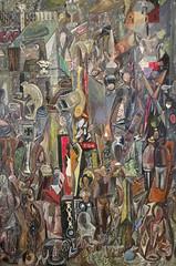 Rummage, by Mark Tobey (1941) (Blinking Charlie) Tags: seattle usa vertical pikeplacemarket washingtonstate rummage seattleartmuseum 2015 marktobey canonpowershots100 blinkingcharlie