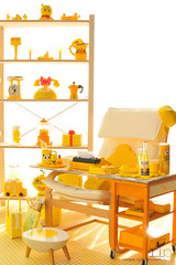 Re-ment Addicts Colour Challenge - Yellow Office (Random Life Project) Tags: ikea yellow toys miniatures mimo rement vitra japanesetoy colorchallenge megahouse colourchallenge