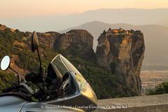 Meteora (Alex - Born To Be Free) Tags: travel panorama landscape landscapes panoramic chiesa grecia moto motorcycle meteora panoramico panorami churc balcani monasteri motociclette motorcycletravel viaggioperimmagini