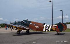 160329_08_C45 (AgentADQ) Tags: plane airplane airport force florida aviation air international bolts leesburg 18 beechcraft commemorative c45 expeditor bucker