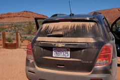off road? (rovingmagpie) Tags: utah hurricane chevy dust trax warnervalley redrockdust warnervalleydinosaurtracksite sb2016