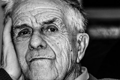 Taid (Lowri B) Tags: portrait people blackandwhite grandfather age bwportrait