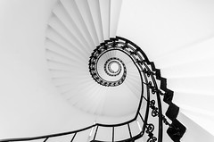 Spiral staircase - Hamburg (hjuengst) Tags: blackandwhite eye stairs germany deutschland hamburg stairway treppe staircase architektur auge spiralstaircase stephansplatz treppenhaus schwarzweis