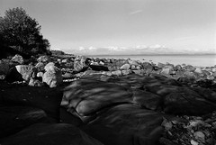 Arran by Film6 (Rock Webb) Tags: bw seascape film nature monochrome beautiful landscape mono scotland countryside scenery noiretblanc hyperfocal sigma contax analogue manual agfa apx manualfocus arran isleofarran beautifulearth contax139q blackwhitephotos sigma28mm scottishisles