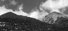 Cloudy Ridge (sfryers) Tags: trees summer sky terrain mountain alps monochrome rock clouds sigma apo rugged redchannel 70300 1456