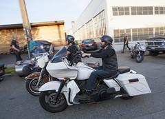 TwoHarleys (B Shree B) Tags: seattle sunset cafe motorcycle ballard racers backfire
