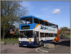 Ride Along....Lodge Road (Jason 87030) Tags: concrete volvo northamptonshire april publictransport planter northants rd stagecoach d2 doubledecker oly olympian 2016 counciloffices lodgeroad 16699 gymn r699dnh saxonsuite