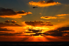 sunset at Tel-Aviv beach (Lior. L) Tags: sunset sea sky beach clouds helicopter