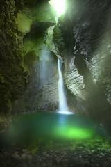 A FLEETING MOMENT (Titanium007) Tags: trees light green nature vertical river landscape waterfall moss rocks natural slovenia slovenija slapkozjak waterfallkozjak