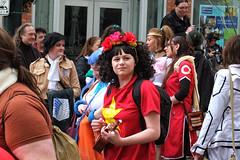 Calgary Comic Expo (Sherlock77 (James)) Tags: people woman costume ukulele crowd calgaycomicexpo