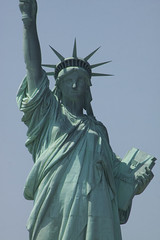 Copper Drapery (lefeber) Tags: city nyc newyorkcity urban newyork shadows verdigris copper statueofliberty libertyisland
