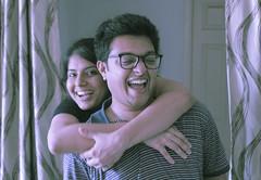 Happy couple (pradeep javedar) Tags: light portrait happy 50mm couple photoshoot natural bokeh smiles portraiture highkey backlit nifty 50mmf18 nifty50 couplephotography canon600d