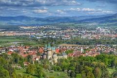 Bojnice castle (miro.pancik) Tags: blue sky panorama tree green nature clouds photo nikon slovakia hdr naturelove bojnice