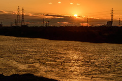 2Yodo River at sunset (anglo10) Tags: sunset japan river