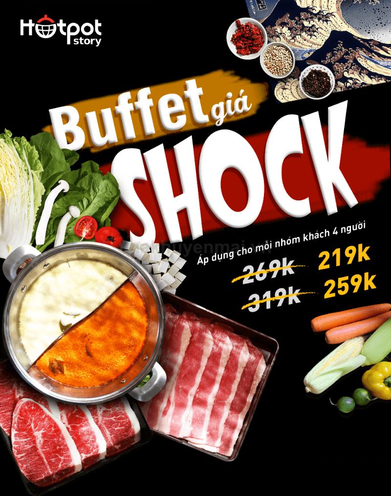 Buffet giá shock tại Hotpot Story