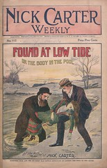 """Found at low tide, or, The body in the pool"" in Nick Carter weekly, no. 113 (niudigitallibrary) Tags: women murder drowning nickcarter murderers carternick dimenovels popularliterature streetandsmith northernillinoisuniversitydigitallibrary"