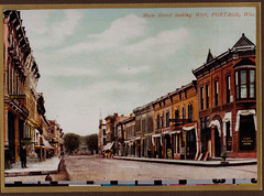 Main Street Looking West, Color Postcard