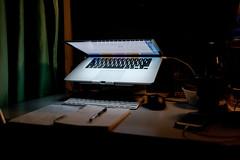 Late night desk (bady_qb) Tags: film mac singapore fuji setup xt1