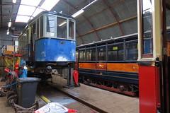GVB 807 opgebokt. (remco2000) Tags: amsterdam blauw gemeente rood ema museumtram 807 gvb 792 donkerblauw werkplaats gvba retm electrische vervoerbedrijf museumtramlijn bijwagen bijwagens
