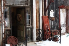 artefacts (s@ssyl@ssy) Tags: door old iron doors entrance rusty shutters antiques salvage railings treasures reuse artefacts repurpose