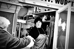 Here's your whatever (Fred Stampach) Tags: vienna wien street urban bw monochrome blackwhite candid streetphotography schwarzweis strase