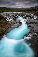 Glacial Flow (Maciek Gornisiewicz) Tags: travel clouds canon river landscape flow photography waterfall iceland europe falls filter maciek 2015 darkelf 24105mm bruar gornisiewicz bruarfoss 5diii glacialglow