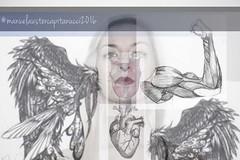 straorganico (ManuelaUster) Tags: portrait collage wings model arms heart ali organic cuore corpo valentyna estremit manuelacapitanucci straorganico straorganic