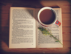 Lazy Sunday (Shan B.) Tags: cup reading book tea pages beverage