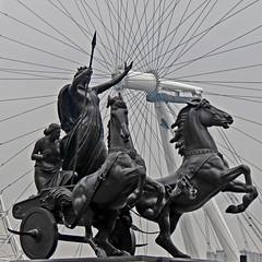 Queen Boudicca (2) (Padski1945) Tags: london embankment publicsculpture thomasthornycroft londonscenes publicstatues queenbodiceaanddaughters queenboudiccaanddaughters