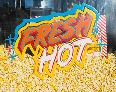 FRESH/HOT (JoeBenjamin) Tags: carnival blue red food hot window colors sign yellow festival zeiss 35mm tampa stars t junk paint state bright florida sony fair fresh snack handpainted popcorn signage vendor fl 50s snacks fe fairway za primary f28 flashy bold sonnar a7r sel35f28z