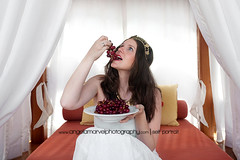 """""""Eat Grapes, Be Merry"""" (amarvel) Tags: food woman selfportrait haven silly fun costume bed creative royal eat grapes crown drapes ncl"""