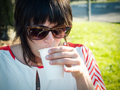 Stacy of Pop Up Coffee Tacoma (sarahbethsmithphotography) Tags: woman cup coffee coffeecup tacoma barista blackcoffee ttown smallbusiness tacomacoffee tacomabusiness