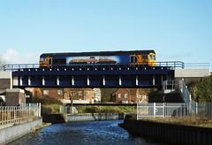 GBRf Loco 66709 'Sorrento', running light engine, felixstowe - Peterborough, at Boss Hall Junction, Ipswich. 30 01 2016 (pnb511) Tags: bridge river railway loco trains locomotive sorrento ipswich gipping class66 eastsuffolkline gbrf baconcurve ipswichchord