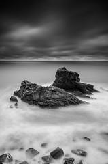 The rock (TitouanB) Tags: longexposure sea blackandwhite mer seascape france nature rock landscape nikon noiretblanc paysage tamron vende poselongue nikond7000