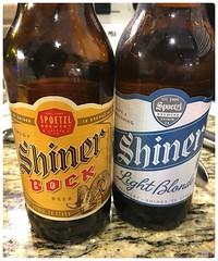 Shiner Bock & Shiner Light Blonde (Danburg Murmur) Tags: texas bottles label cerveza houston shinerbock bier birra countertop bia bire beerbottle l bira  cervesa sr     serbesa spoetzlbrewery   shinerlightblonde
